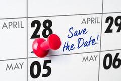 28-ое апреля Стоковые Изображения