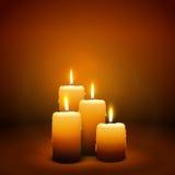 4-ое воскресенье пришествия - четвертой свечи - свет горящей свечи Стоковые Фото