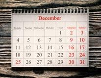 25-ое декабря в календаре Стоковое Изображение