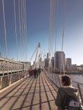 28-ое декабря 2017, мост Лондона, Англии - Hungerford и золотые мосты юбилея Стоковые Фото