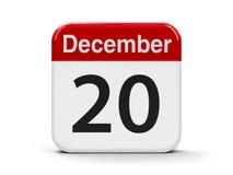 20-ое декабря Стоковая Фотография