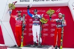 28-ое декабря 2017 - Bormio Италия - кубок мира лыжи Audi FIS Стоковая Фотография