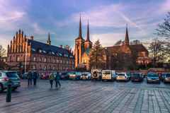 4-ое декабря 2016: Центр Роскилле, Дании стоковая фотография rf