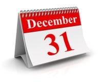 31-ое декабря Стоковое Фото