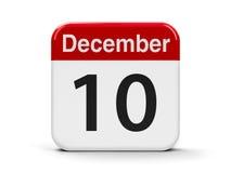 10-ое декабря Стоковое Изображение