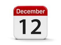 12-ое декабря Стоковые Изображения