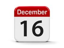 16-ое декабря Стоковое Изображение