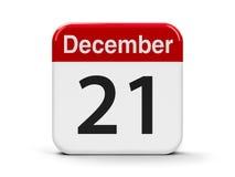 21-ое декабря Стоковые Изображения RF