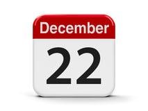 22-ое декабря иллюстрация вектора