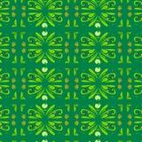 Ое-зелен картины орнамента темное Стоковая Фотография RF