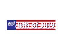 4-ое знамя июль Стоковые Фото