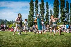 10-ое-11 июня 2017 Вьенна, Франция Фестиваль галло-романских дней исторический Стоковая Фотография