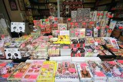 18-ое июня: Стойл сувенира на рынке Ueno, токио, Японии Стоковые Фотографии RF