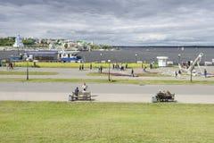 2-ое июня 2016: Фото залива Чебоксар на Реке Волга Chebo Стоковые Фото