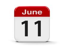 11-ое июня бесплатная иллюстрация
