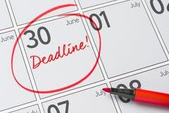 30-ое июня Стоковое Изображение RF