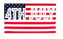 4-ое июля США празднуют День независимости американский флаг Стоковое фото RF