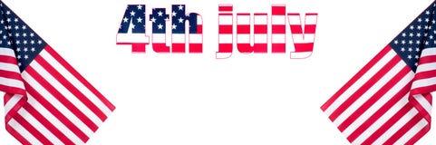 4-ое июля США празднуют День независимости соединенные государства флага Стоковое Фото