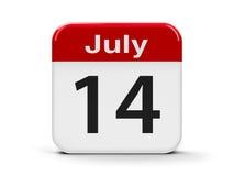 14-ое июля бесплатная иллюстрация