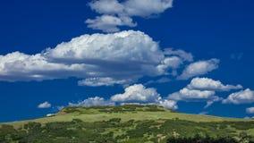 14-ое июля 2016 - plateu с облаками - горы Сан-Хуана, Колорадо, США Стоковое Изображение RF