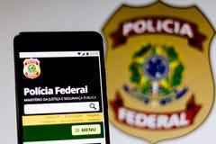 10-ое марта 2019, Бразилия Домашняя страница  стоковые изображения