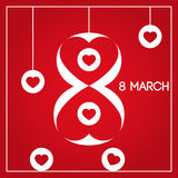 8-ое марта женщины дня международные s Стоковая Фотография RF