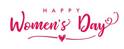 8-ое марта, знамя литерности дня счастливых женщин элегантное Стоковые Фото