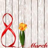 8-ое марта Международный день ` s женщин Поздравления на день ` s женщин Стоковое Изображение RF