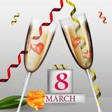 8-ое марта Международный день ` s женщин Счастливый Стоковые Фото