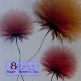 8-ое марта, Международный женский день, поздравительная открытка иллюстрация вектора