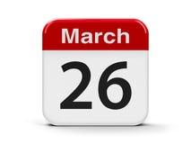26-ое марта Стоковые Фото