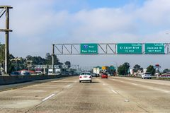 19-ое марта 2019 El Cajon/CA/США - управляющ к Сан-Диего на солнечный день стоковые изображения rf