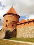 14-ое начатое trakai Литвы острова конструкции столетия замока каменное было Стоковые Изображения RF