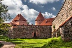 14-ое начатое trakai Литвы острова конструкции столетия замока каменное было Стоковая Фотография