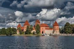 14-ое начатое trakai Литвы острова конструкции столетия замока каменное было Стоковые Фото