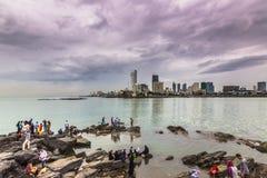 15-ое ноября 2014: Горизонт Мумбая в расстоянии, Индия Стоковые Изображения