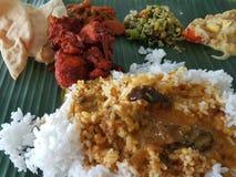 11-ое ноября 2016 Куала-Лумпур Рис лист банана для обедающего Стоковая Фотография RF