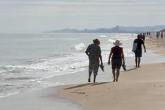 13-ое ноября 2016: Прогулка утра на пляже Saler, Валенсии Стоковое Изображение