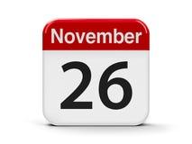 26-ое ноября Стоковое фото RF
