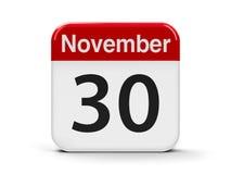 30-ое ноября иллюстрация вектора
