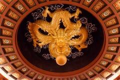 2012, 25-ое октября - город Тайбэя, Тайвань: Грандиозный взгляд интерьера гостиницы Стоковые Фотографии RF