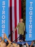 12-ое октября 2016, демократичный кандидат в президенты Хиллари Клинтон агитирует в центре для искусств, Лас-Вегас Смита, Неваде Стоковая Фотография
