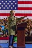 12-ое октября 2016, демократичный кандидат в президенты Хиллари Клинтон агитирует в центре для искусств, Лас-Вегас Смита, Неваде Стоковые Фотографии RF