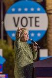 12-ое октября 2016, демократичный кандидат в президенты Хиллари Клинтон агитирует в центре для искусств, Лас-Вегас Смита, Неваде Стоковое Изображение RF