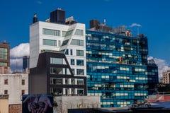 24-ое октября 2016 - жилые дома - западная восемнадцатая улица 459 конструированная Della Valle + Bernheimer, Челси, Нью-Йорком Стоковое Изображение
