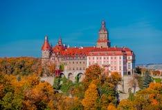 15-ое октября 2017 - замок Ksiaz, Польша Стоковая Фотография