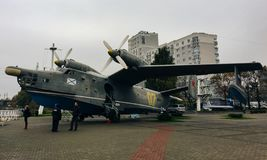 20-ое октября 2017, музей Мирового океана, Калининград, военный самолет стоковое изображение