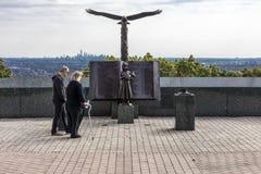 16-ое октября 2016 - ресервирование утеса орла подходу к 9/11 людей мемориальное в West Orange, Нью-Джерси с взглядом Нью-Йорка Стоковые Изображения