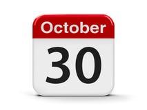30-ое октября бесплатная иллюстрация