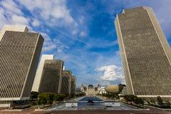 16-ое октября 2016, Albany, капитолий штат Нью-Йорк, горизонт и здания правительства в октябре Стоковое Изображение